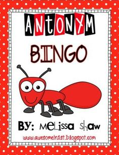 Antonym bingo: Is great for foreign language vocabulary practice too!! :) Find local schools and teachers on EducatorHub.com