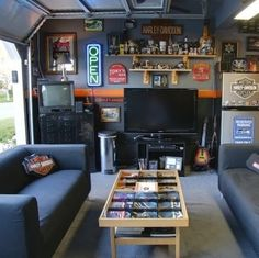 Garage becomes Man Cave!