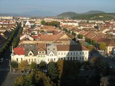 Bistrita, Romania - this is where I spent the last 5 years in Romania. It was where I lived when the revolution took place in Far from the craziness of riots and gunshots. Black Sea, Twin Cities, Simply Beautiful, Romania, Places Ive Been, Paris Skyline, Places To Visit, Mansions, Country