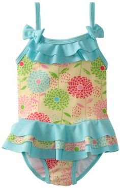 ABSORBA Baby-Girls Infant Floral Swimsuit One Piece $15.28 #topseller