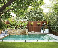 landscape design swimming pool garden landscaping ideas for small backyard pictures designs at the in large.landscape design swimming pool garden furniture glamorous designs with… Backyard Pool Designs, Small Backyard Gardens, Swimming Pools Backyard, Small Backyard Landscaping, Swimming Pool Designs, Backyard Patio, Landscaping Ideas, Landscaping Software, Pool In Small Backyard