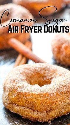 Air Fryer Oven Recipes, Air Frier Recipes, Air Fryer Dinner Recipes, Best Breakfast, Breakfast Recipes, Fall Recipes, Sweet Recipes, Donut Recipes, Cooking Recipes