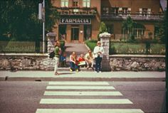 Vintage style photograph for bus stop