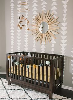 Geometric + Stylish Outdoorsy Nursery - Inspired By This