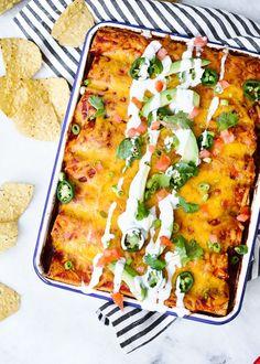 Skinny Chicken Enchiladas | Skinnytaste