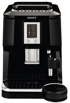 KRUPS Falcon Fully Automatic Espresso and Cappuccino Machine with Latte Tray and Built-in Conical Burr Grinder, Black -- Continue to the product at the image link. Cappuccino Maker, Cappuccino Coffee, Cappuccino Machine, Espresso Maker, Coffee Maker, Krups Coffee, Espresso Machine Reviews, Best Espresso Machine, Automatic Espresso Machine
