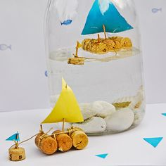 #DIY Cork Sailboat In A Jar - Love it :-)