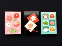 Japanese Memo Pads - Traditional Japanese Food -  Small Size 3 Set
