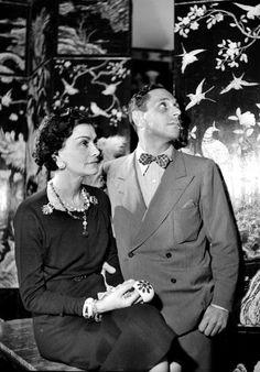 Coco Chanel, French couturier and Fulco di Verdura, Italian writer....