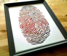 Thumbprint paper cutting by all things paper