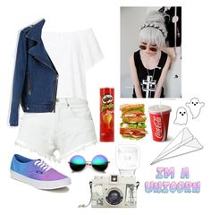"""""""Crazy"""" by thaisa-tcs ❤ liked on Polyvore featuring Bitching & Junkfood, Revo, Vans and Lomography"""