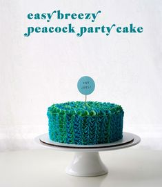 Learn how to make a quick and easy peacock-inspired cake of your own, plus check out some other festive examples on the Craftsy Blog!