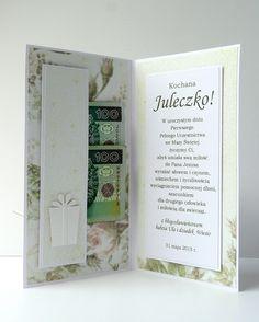 kartkulec: I Komunia Święta Paper Quilling Cards, Wedding Illustration, Letter Wall, Handmade Decorations, Wedding Sets, Diy Cards, Communion, Birthday Cards, Invitations