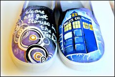 Unisex Adult #DoctorWho Shoes Painted by PricklyPaw