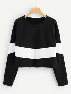 Shop Cut And Sew Sweatshirt online. SHEIN offers Cut And Sew Sweatshirt & more to fit your fashionable needs. Love Clothing, Boutique Clothing, Harajuku Fashion, Fashion Outfits, Fashion Boots, Kinds Of Clothes, Clothes For Women, Sweaters And Jeans, Cold Weather Outfits