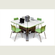 Acrobat™ I~O™ Post Trapezoid Desk | Computer Lab Tables | Smith System