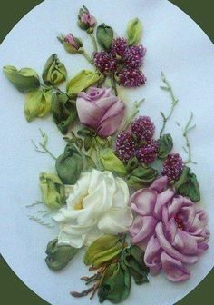 Wonderful Ribbon Embroidery Flowers by Hand Ideas. Enchanting Ribbon Embroidery Flowers by Hand Ideas. Ribbon Embroidery Tutorial, Silk Ribbon Embroidery, Embroidery Art, Embroidery Stitches, Embroidery Patterns, Embroidery Techniques, Ribbon Art, Ribbon Crafts, Ribbon Flower