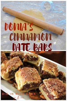 Donia's Cinnamon Date Bar recipe and gluten free variation at diginwithdana.com