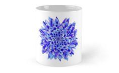Beautiful unique deep blue chrysanthemum by Maria-So