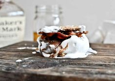 Bourbon Marshmallow S�019mores with Bacon | 21 Desserts That Are Really Excited To See You