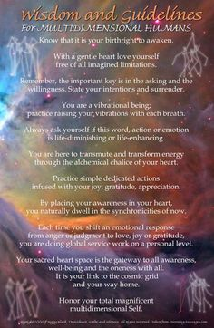 Book of Shadows:  Wisdom and Guidelines for Multidimensional Humans.