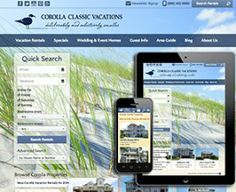 With their new, responsive website, Corolla Classic Vacations offers guests a fully integrated booking experience.  View the full website: http://www.corollaclassicvacations.com Blue Tent Marketing's portfolio: http://www.bluetentmarketing.com/portfolio