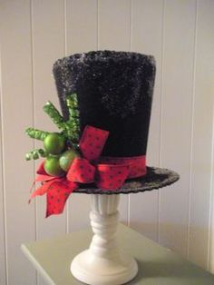 Handmade Felt Snowman Hat Tree Topper. $24.95, via Etsy.