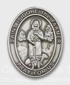 St. Isidore the Farmer Visor Clip : AUBVC097
