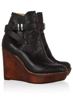 Rag & Bone Leather and Wood Boots, #net-a-porter #ragandbone