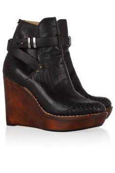 ce7a459da602 Wedges Rag  amp  Bone Leather and Wood Boots