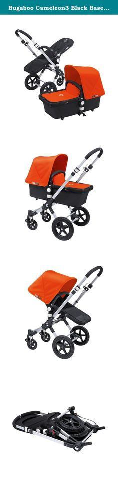Bugaboo Cameleon3 Black Base with Orange Tailored Fabric. The iconic all-in-one stroller light and compact. It's also easy to lift and store. Suitable for a newborn or toddler, the multi-terrain Bugaboo Cameleon³ can seamlessly adapt to your journey - whether that's through the city, woods, sand or snow. The new and improved rotating carry handle gives you easy access to your child for those scoop-up moments.