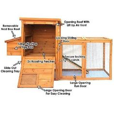 CHICKEN COOP HEN HOUSE POULTRY ARK HOME NEST RUN COUP M - Suitable for upto 4 Birds - INTEGRATED RUN & CLEANING TRAY & INNOVATIVE LOCKING MECHANISM (ARK M)