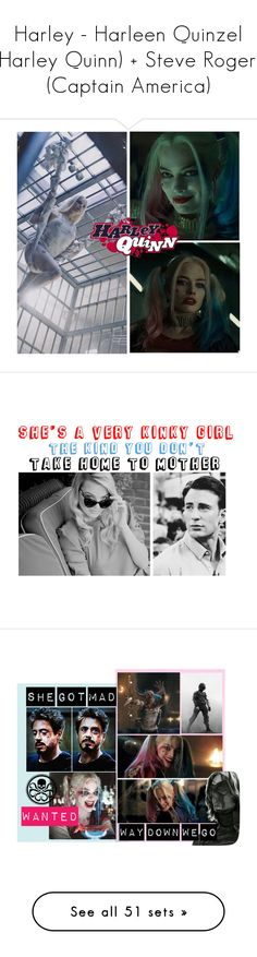 """Harley - Harleen Quinzel (Harley Quinn) + Steve Rogers (Captain America)"" by samantastark ❤ liked on Polyvore featuring art, Dolce&Gabbana, Balmain, Michael Kors, Tamara Comolli, Miu Miu, WithChic, Dune, Eddie Borgo and Alice + Olivia"