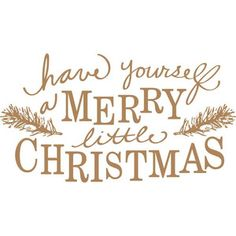Silhouette Design Store: Have Yourself A Merry Little Christmas