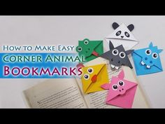How to make Cute Animal Corner Bookmarks - Craftylity