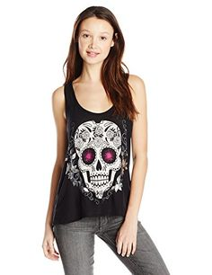 c130976571f6c Metal-Mulisha-Sugary-Skull-Graphic-Tank-Top Biker Chick