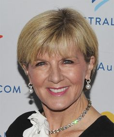 View yourself with Julie Bishop hairstyles and hair colors. View styling steps and see which Julie Bishop hairstyles suit you best. Very Short Bangs, Very Short Pixie Cuts, Short Straight Hair, Short Hair With Layers, Short Hair Cuts, Casual Hairstyles, Short Bob Hairstyles, Short Hairstyles For Women, Cool Hairstyles