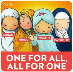 One For All, All For One. #sabian #hindu #muslim #catholic