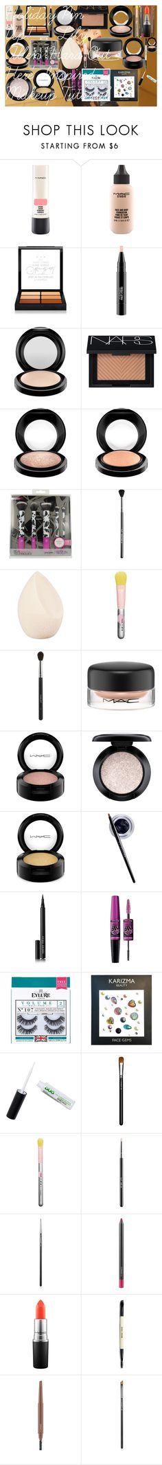 """""""Holiday Pin Up! - Lily Allen 'Hard Out Here' Inspired Makeup Tutorial"""" by oroartye-1 on Polyvore featuring beauty, MAC Cosmetics, NARS Cosmetics, Sigma, Christian Dior, Inglot, Maybelline, Bobbi Brown Cosmetics and eylure"""