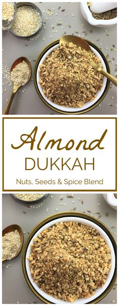 Healthy Food & Recipes Almond dukkah - blen Food & Drink Healthy Snacks Nutrition Cocktail Recipes Almond dukkah - blend of nuts seeds & spice. Use as a dip with bread & olive oil Spice Blends, Spice Mixes, Easy Delicious Recipes, Great Recipes, Delicious Food, Dukkah Recipe, Curry, Homemade Spices, Lamb Recipes