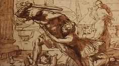 PREPARATORY SKETCH FOR THE MASSACRE OF THE INNOCENTS. suggested date : 1628 / 1629. pen brown ink and wash on paper. 14,7 × 16,9 cm. Nicolas Poussin, Figure Drawing, Roman, Sketch, Ink, Drawings, Paper, Painting, Sketch Drawing