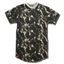 cc70b0b271ebc Camiseta Longline Masculina Camuflada