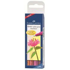 4 Tuschestift PITT artist pen S warm colour Ca. 11,00€