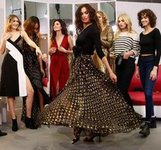 FWAH2016 Gigi Hadid, Jourdan Dunn, Lily Aldridge, Karlie Kloss, Elsa Hosk et Irina Shayk au défilé Diane von Furstenberg automne-hiver 2016-2017