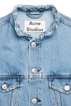Acne Studios Who ind fray indigo