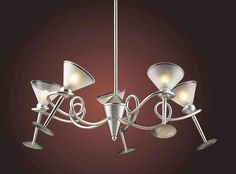 Martini Glass 5 Light Chandelier