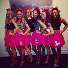 The Caitlin Diaries: DIY Halloween Costume Ideas College Poodle Skirt Girl Group Group Halloween Costumes, Halloween 2013, Group Costumes, Cute Halloween, Diy Costumes, Costume Ideas, Sorority Halloween Costumes, Halloween Ideas, Homecoming Week