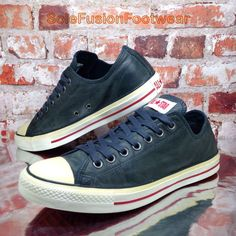 buy popular f8c0c bb724 Converse Mens All Star Leather Trainers Blue sz 9 Chuck Taylor Sneakers EU  42.5   eBay