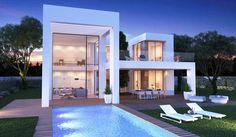 Villa in Javea - 3 Beds 4 Baths / Xabia New Property, Investment Property, Villas, Moraira, Villa Design, Parking, Selling Real Estate, Design Your Home, Arquitetura
