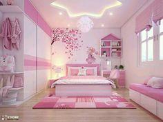 Teen Bedroom Ideas - Cute bedroom desk area for teen girls PBteen Addison Desk and Study Wall Board Bedroom Design For Teen Girls, Kids Bedroom Designs, Cute Bedroom Ideas, Room Design Bedroom, Kids Room Design, Home Room Design, Bedroom Desk, Teen Bedroom, Girl Bedrooms
